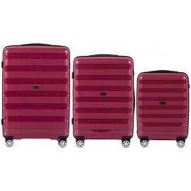 Set Trolere Polipropilena 4 Roti Duble Cifru TSA Wings PP07 - 3 Piese Rosu